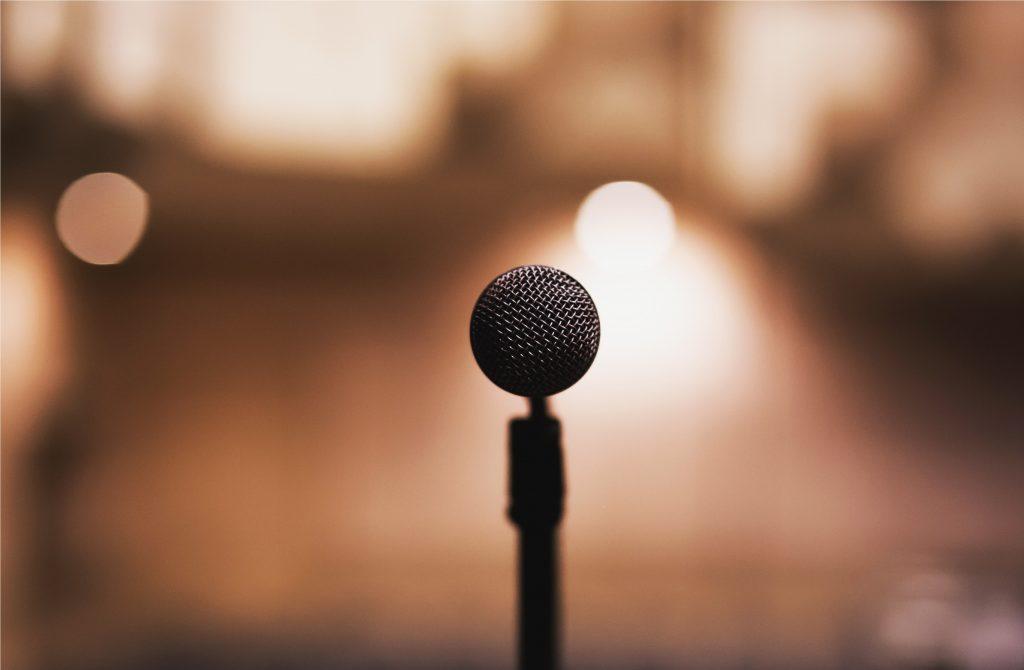 spreken speech presenteren microfoon